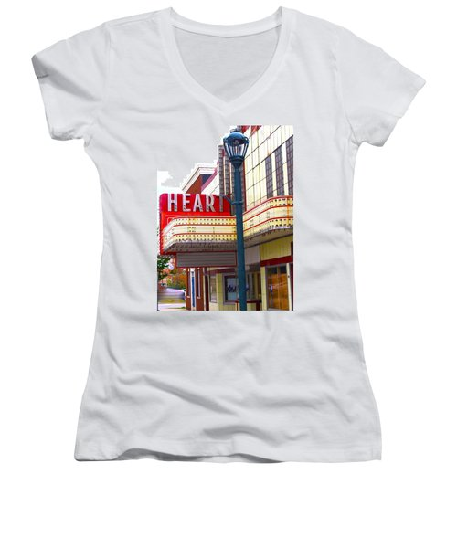 Heart Theatre Effingham Illinois  Women's V-Neck T-Shirt
