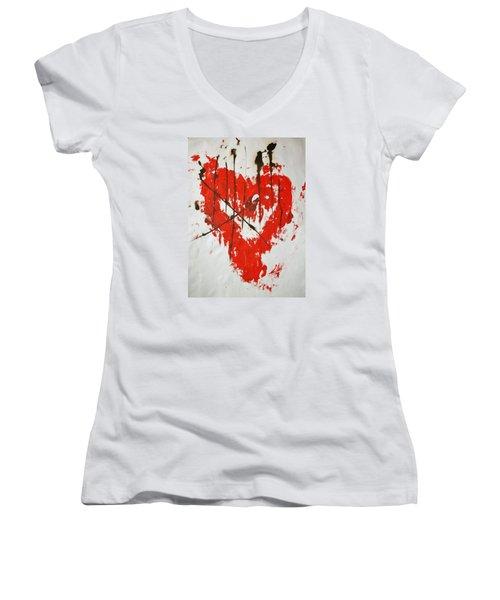 Heart Flash Women's V-Neck (Athletic Fit)