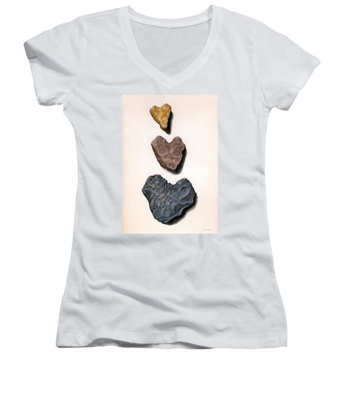 Hearts Rock Women's V-Neck T-Shirt