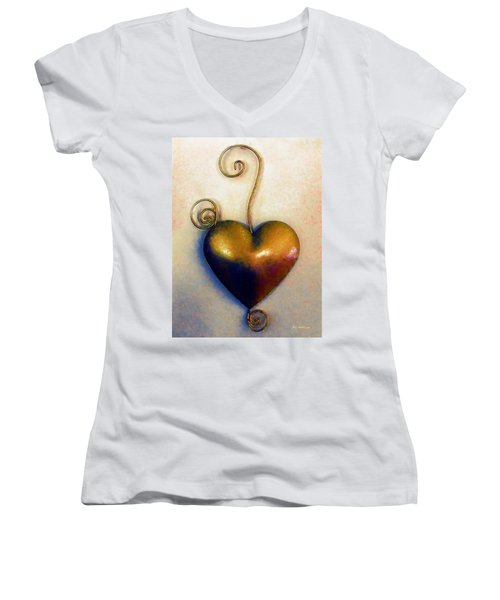 Heartswirls Women's V-Neck