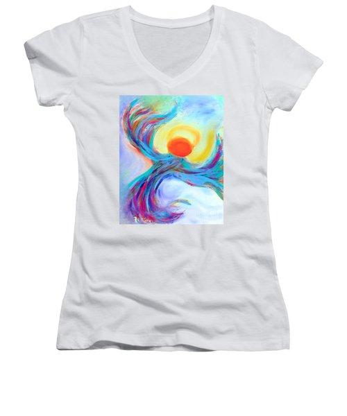 Heaven Sent Digital Art Painting Women's V-Neck