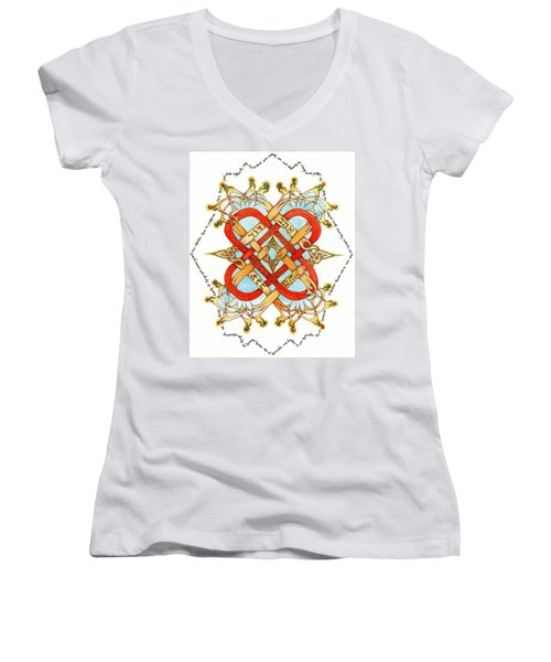 Hebrew Words For Love Women's V-Neck