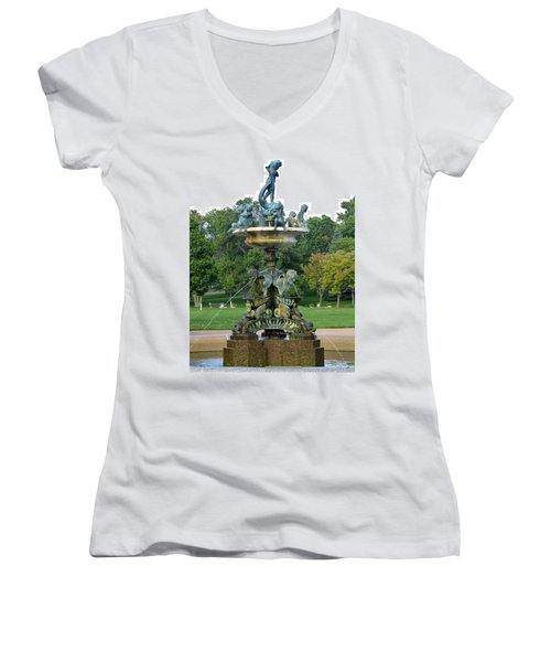 Heffelfinger Fountain Women's V-Neck