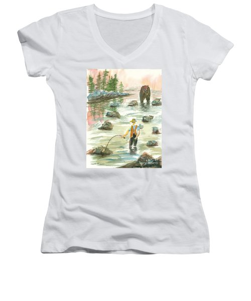 Help Is On The Way Women's V-Neck (Athletic Fit)