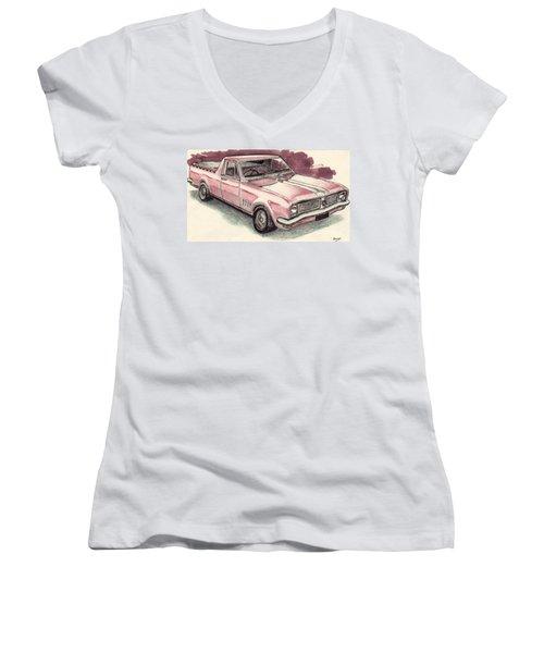 Hg Holden Ute Women's V-Neck T-Shirt