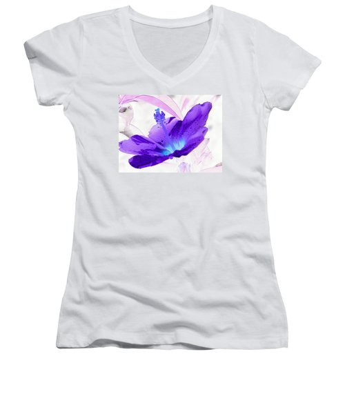 Hibiscus - After The Rain - Photopower 754 Women's V-Neck T-Shirt