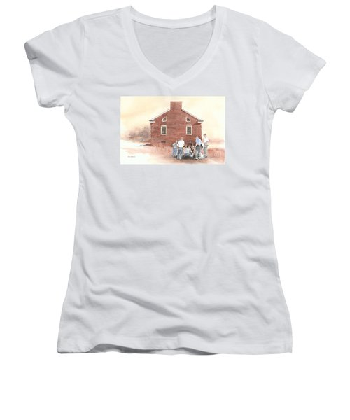 High Noon Shootout At The Tidal School  Women's V-Neck