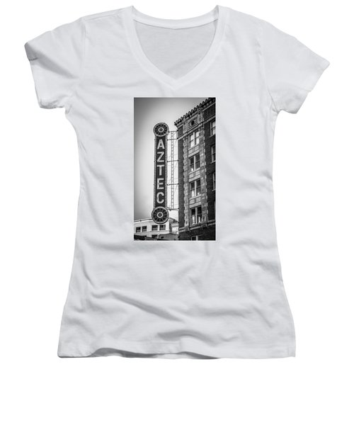 Historic Aztec Theater Women's V-Neck (Athletic Fit)
