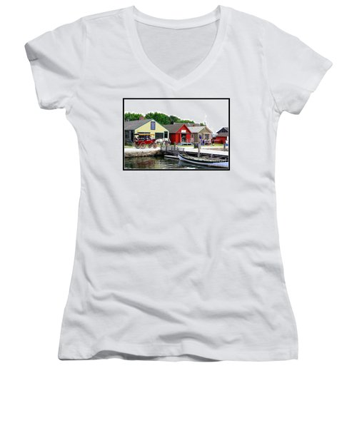 Historic Mystic Seaport Women's V-Neck T-Shirt (Junior Cut)