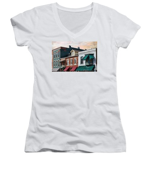 Historic Weston Women's V-Neck T-Shirt (Junior Cut) by Liane Wright