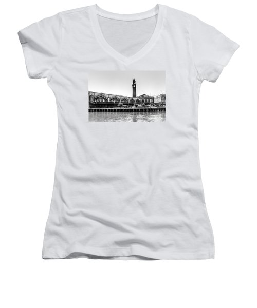 Hoboken Terminal Tower Women's V-Neck