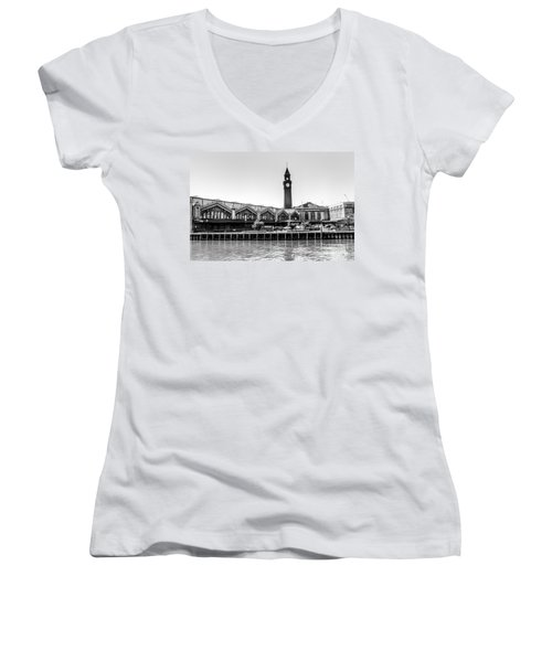 Hoboken Terminal Tower Women's V-Neck (Athletic Fit)