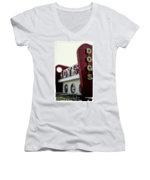 Hofmann Hots Women's V-Neck T-Shirt