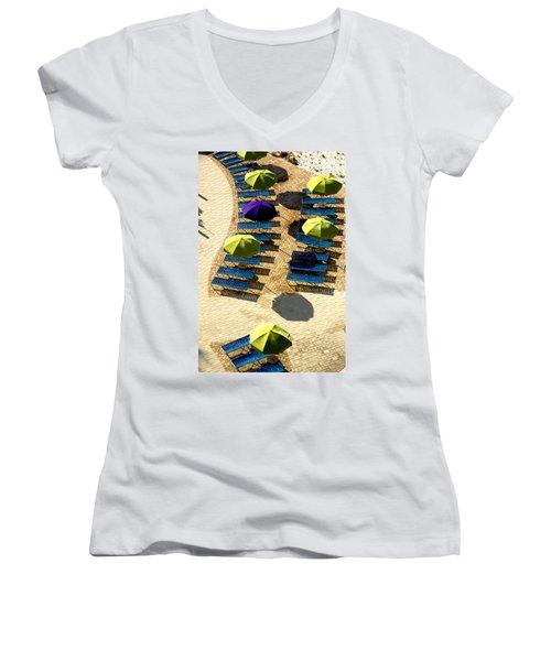Holiday Women's V-Neck T-Shirt (Junior Cut) by Kathy Bassett