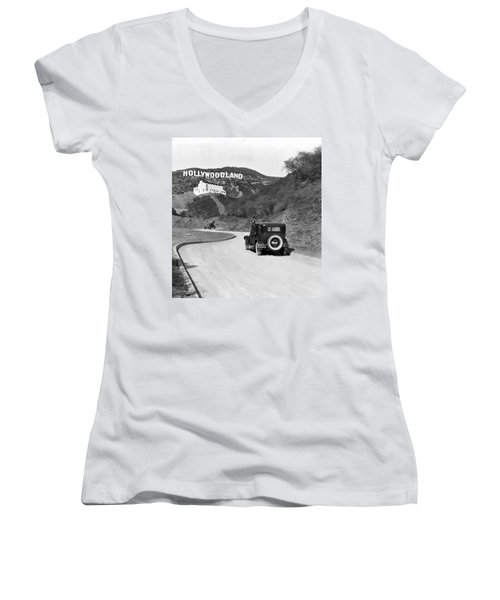 Hollywoodland Women's V-Neck (Athletic Fit)