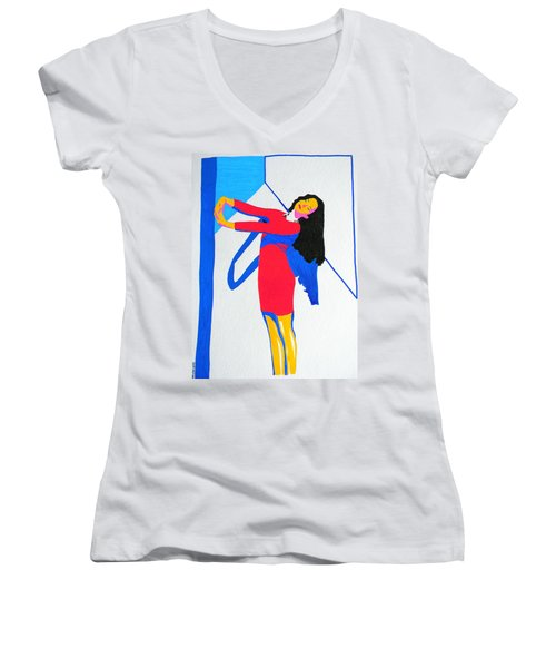 Homage To Carven Women's V-Neck