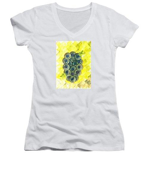 Honeybee 1 Women's V-Neck T-Shirt (Junior Cut) by Lorna Maza