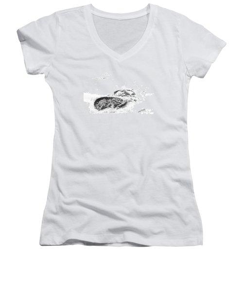 Hoof Prints Women's V-Neck T-Shirt (Junior Cut) by Marianne NANA Betts