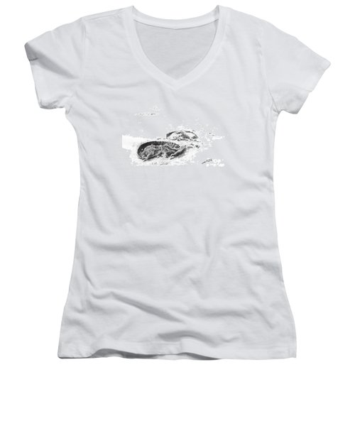 Hoof Prints Women's V-Neck (Athletic Fit)