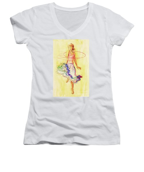 Hoop Dance Women's V-Neck (Athletic Fit)