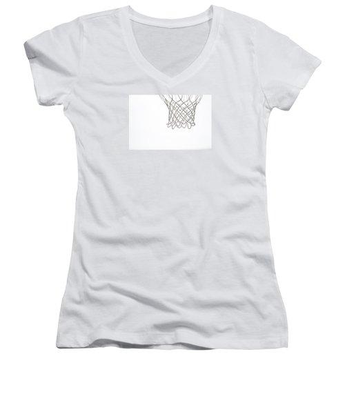 Hoops Women's V-Neck T-Shirt (Junior Cut)