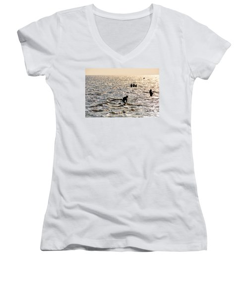 Hoping For A Catch Women's V-Neck (Athletic Fit)