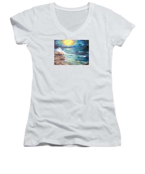 Horizons Women's V-Neck T-Shirt (Junior Cut) by Cheryl Pettigrew
