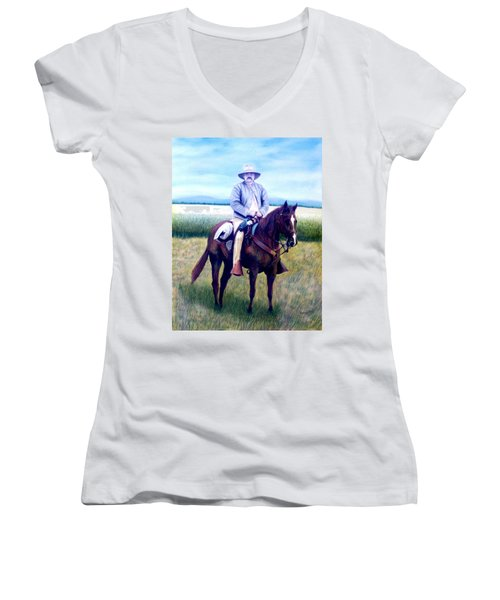 Horse And Rider Women's V-Neck (Athletic Fit)
