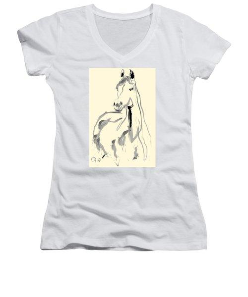Horse - Arab Women's V-Neck
