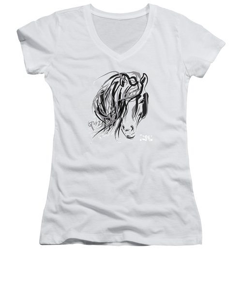 Horse- Hair And Horse Women's V-Neck