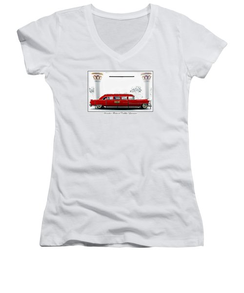 Horseshoe Fleetwood Cadillac Limousine Women's V-Neck (Athletic Fit)