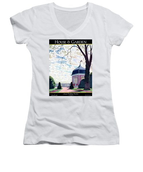 House And Garden Annual Building Number Cover Women's V-Neck
