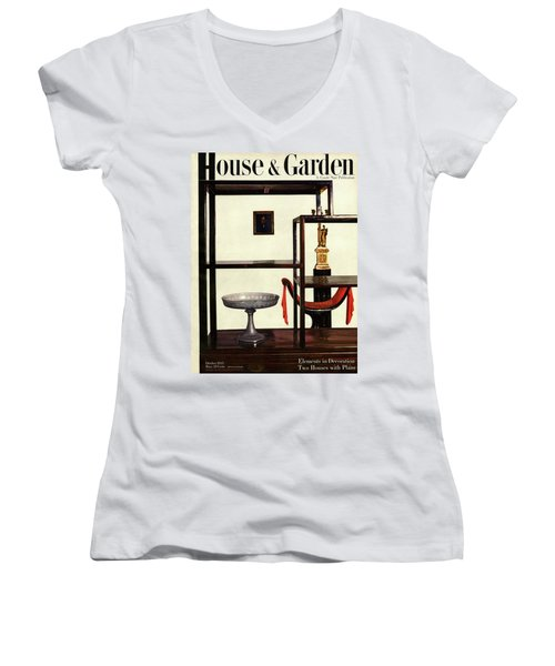 House And Garden Cover Featuring A Chinese Women's V-Neck