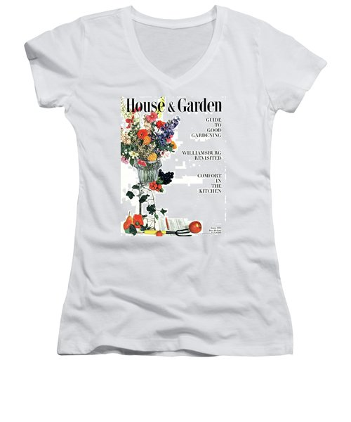 House And Garden Guide To Good Gardening Cover Women's V-Neck