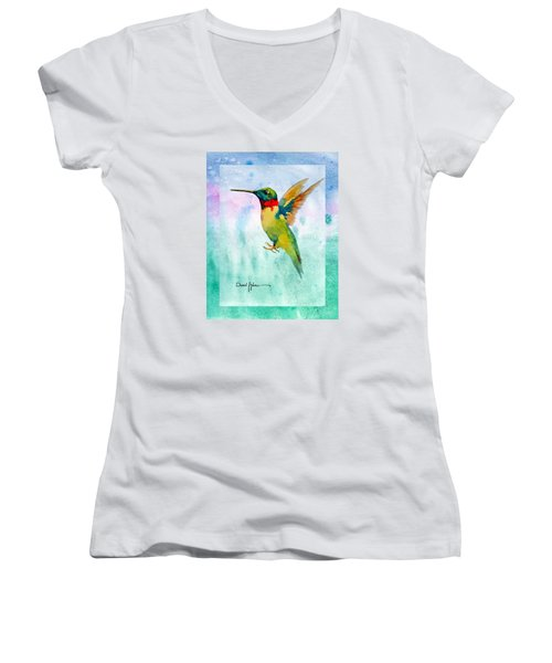 Da202 Hummer Dreams Revisited By Daniel Adams Women's V-Neck (Athletic Fit)