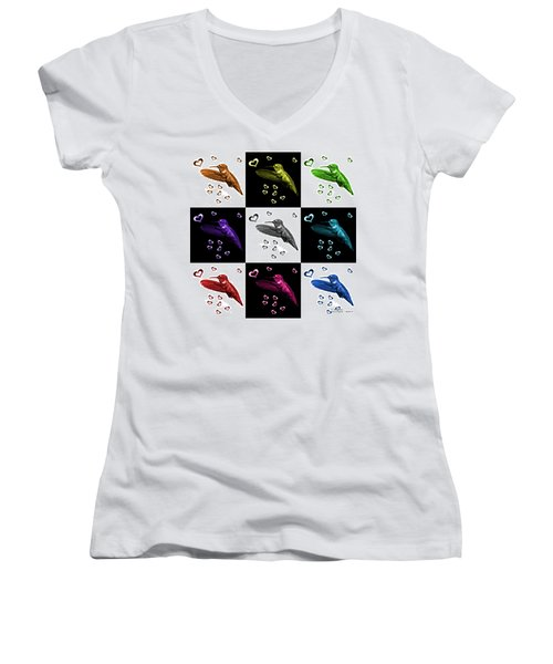 Hummingbird - 2055 F S M - V2 Women's V-Neck