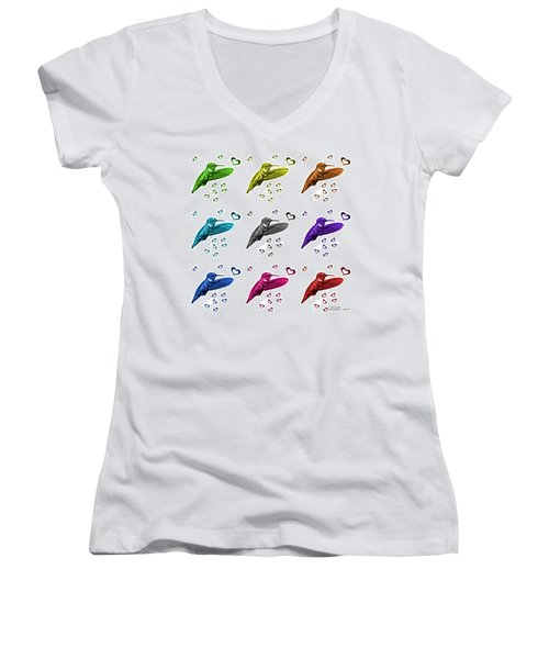 Hummingbird - 2055 F S M - Wb Women's V-Neck