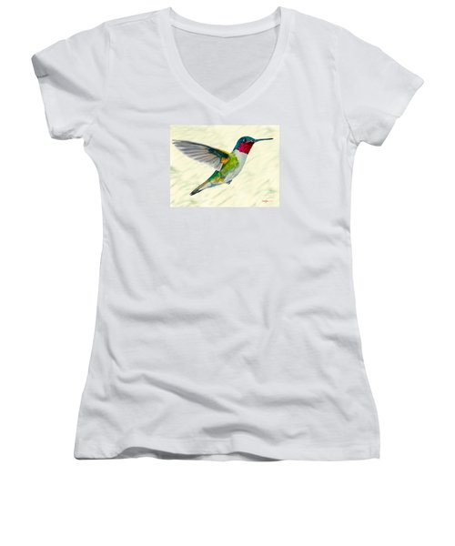 Da103 Broadtail Hummingbird Daniel Adams Women's V-Neck (Athletic Fit)