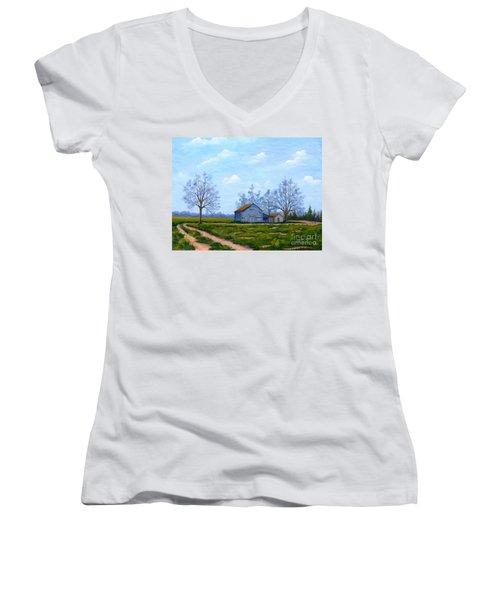 Hwy 302 Farm Women's V-Neck T-Shirt