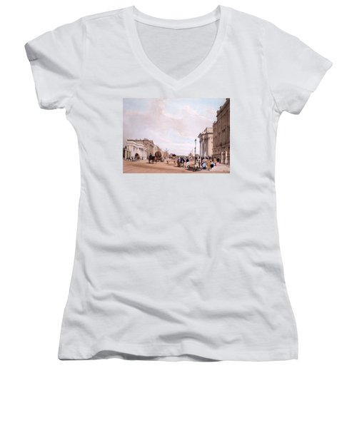 Hyde Park Corner, Looking Women's V-Neck T-Shirt (Junior Cut) by Thomas Shotter Boys