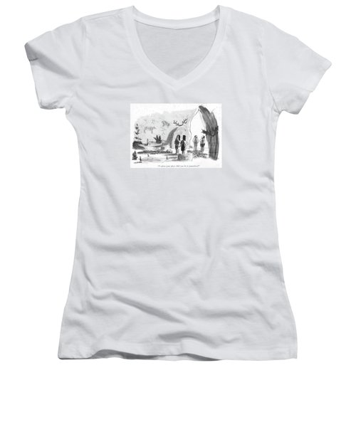 I Adore Your Place. Did You Do It Yourselves? Women's V-Neck