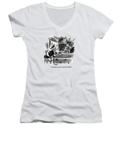 I Remember When I Was The Donald! Women's V-Neck