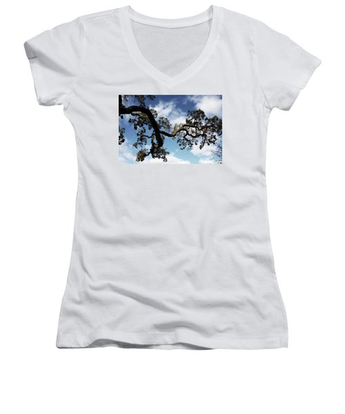 I Touch The Sky Women's V-Neck
