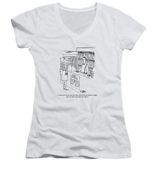 I Understand The Sex Scenes Have Been Removed But Women's V-Neck T-Shirt