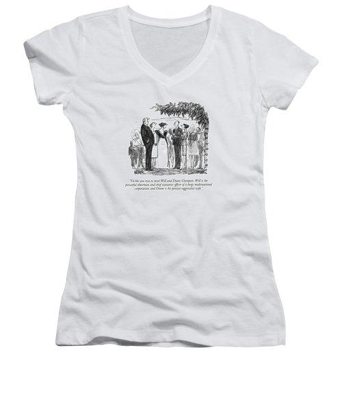 I'd Like You Two To Meet Will And Diane Clampett Women's V-Neck