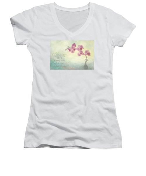 Ikebana With Message Women's V-Neck