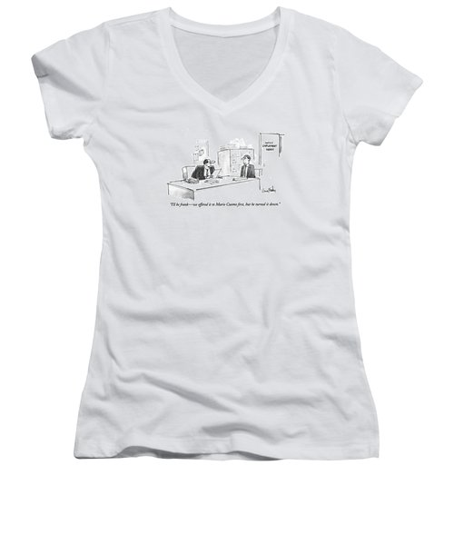 I'll Be Frank - We Offered It To Mario Cuomo Women's V-Neck
