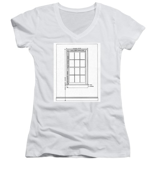 Illustration Of A Window Women's V-Neck