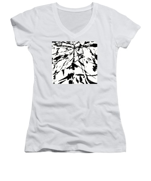 I'm Here Women's V-Neck T-Shirt (Junior Cut) by Jacqueline McReynolds