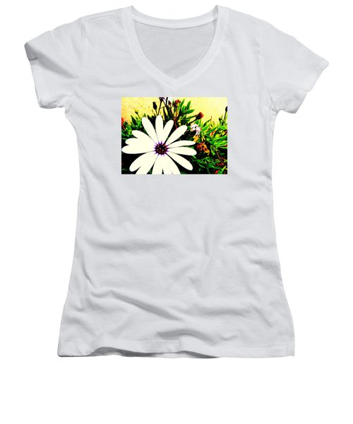 Women's V-Neck T-Shirt (Junior Cut) featuring the photograph Imagination Growing by Faith Williams